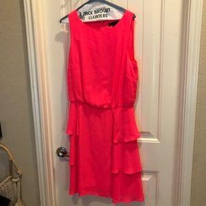 Size 10/12 Hot coralish pink Banana Republic Dress